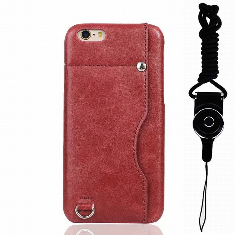 wholesale dealer 27d8a 5f008 US $13.98 |Ascromy For iPhone 6 Wallet Case Credit Card Holder Slot Cover  with Lanyard Neck Strap for Apple iPhone 6 S 6S Phone Accessories-in Wallet  ...