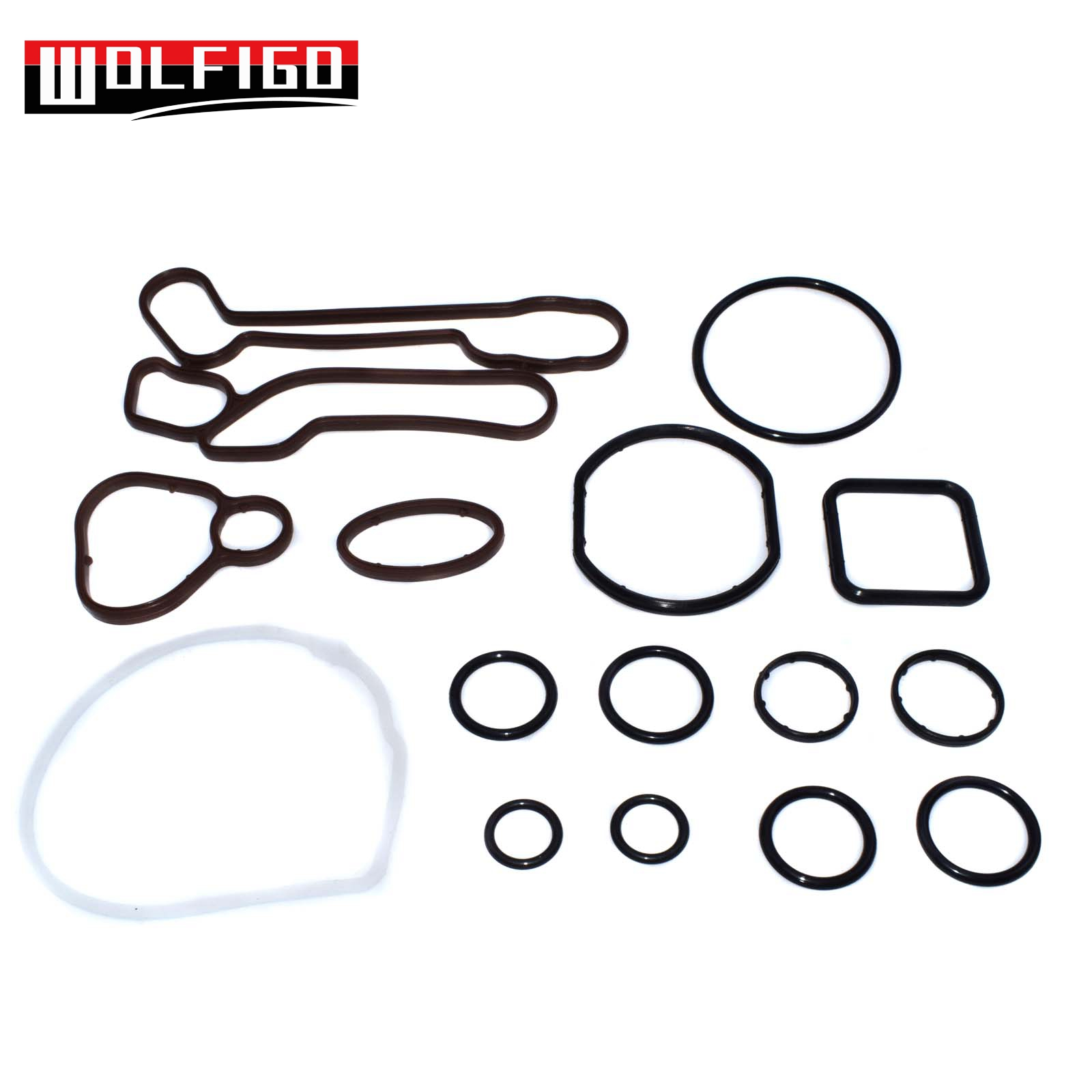 WOLFIGO New 1 Set /10 Sets Engine Oil Cooler Gasket Seal Kit For Chevrolet Aveo G-M Opel Pontiac 5650972,5650962,55571687 image
