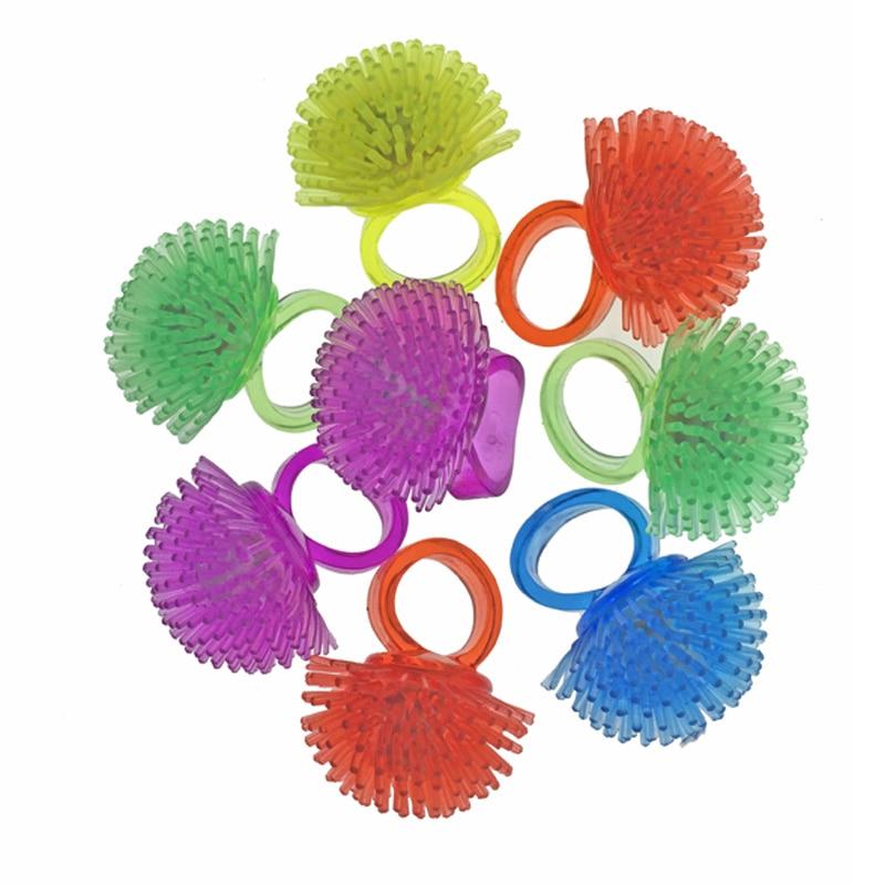 3PCS New Kids Light-Up Toys Silicone LED Flashing Light Ring Novelty Jlly Luminous Ring Birthday Wedding Glow Party Favors