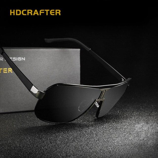 582b85def9 HDCRAFTER Square Sunglasses Men Original Famous Brand Polarized UV400  Sunglasses Men Luxury Glasses For Driving Anti