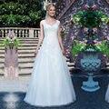 Vestido De Noiva 2016 Cativante Princesa Lace Vestidos de Casamento Spaghetti e Decote Em V Do Vintage Branco Vestidos de Noiva Sob Encomenda