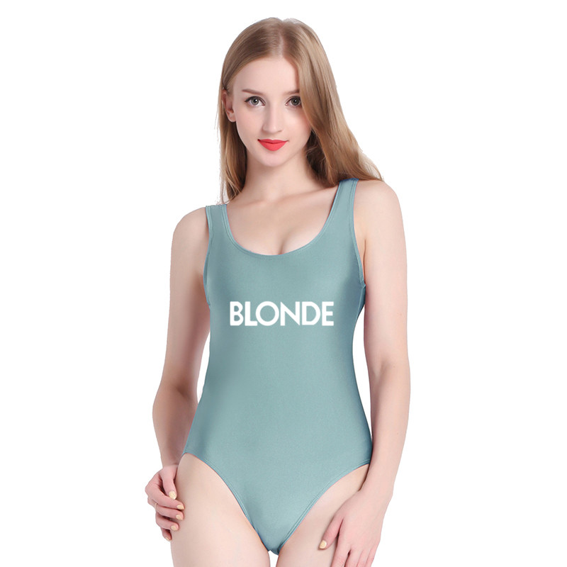 pinjia blonde 2018 hot women monokini swimwear one piece