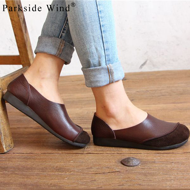 Parkside Wind PU Leather Women Shoes Round Toe Solid Slip-on Boat Shoes Women Loafers Big Size 35-43 Spring Flat Shoes XWA2061-5 spring summer flock women flats shoes female round toe casual shoes lady slip on loafers shoes plus size 40 41 42 43 gh8