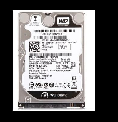 3 years warranty  100%New and original black  WD5000BPKX  500G 7200rpm16M