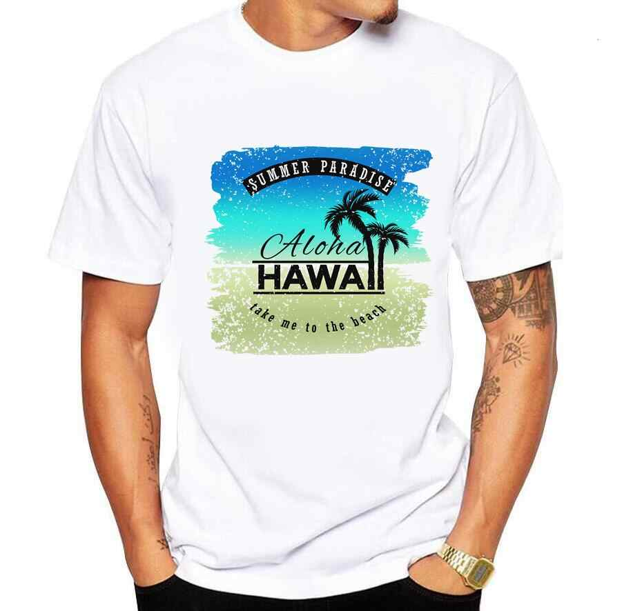 Men's T-shirt Print Pattern palms california funny t shirt men summer new white casual homme tshirt beachcoconut tree print 5xl