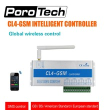 free ship CL4-GSM GSM SMS Controller Home Burglar Security Wireless Remote control Switch GSM Receiver 4 Relay for gate openers