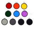 Новая камера фильтр 40.5 43 46 49 52 55 58 62 67 72 77 82 мм красно-оранжевый-желтый зеленый синий фиолетовый ND2 4 8 16