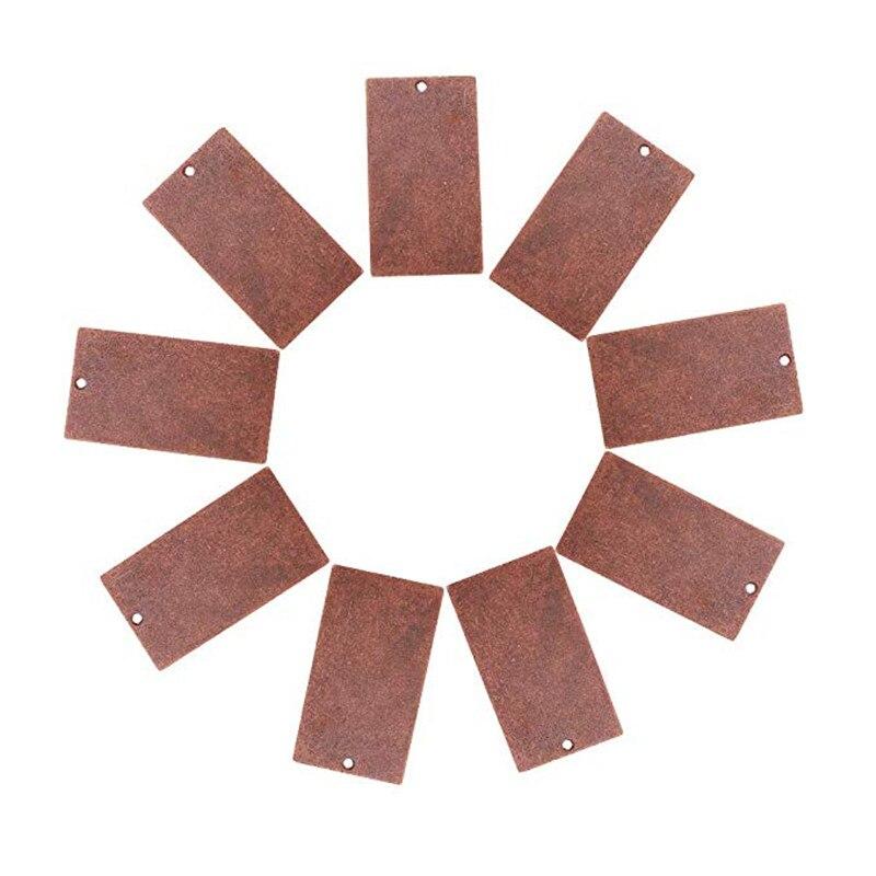 200 sztuk 32x18x0.5mm Metal miedź tagi, mosiężne puste znaczki tworzenia biżuterii DIY urok wisiorki, prostokąt, czerwona miedź w Wisiorki od Biżuteria i akcesoria na  Grupa 1