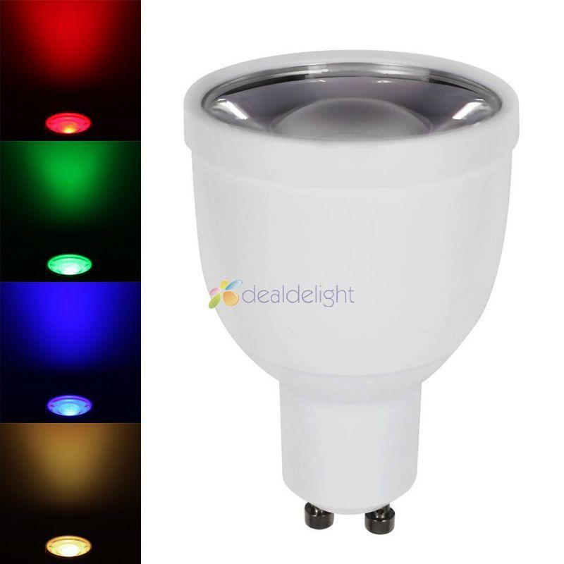 Ми. light 2.4 г GU10 5 Вт RGBW RGB + холодный белый или теплый белый Светодиодный прожек ...