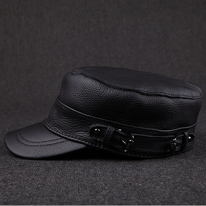 117e4eb68d9b6d Svadilfari wholesale Winter thermal 2017 genuine leather hats woman cap  cadet cap man military hat cowhide leather cap -in Military Hats from  Apparel ...