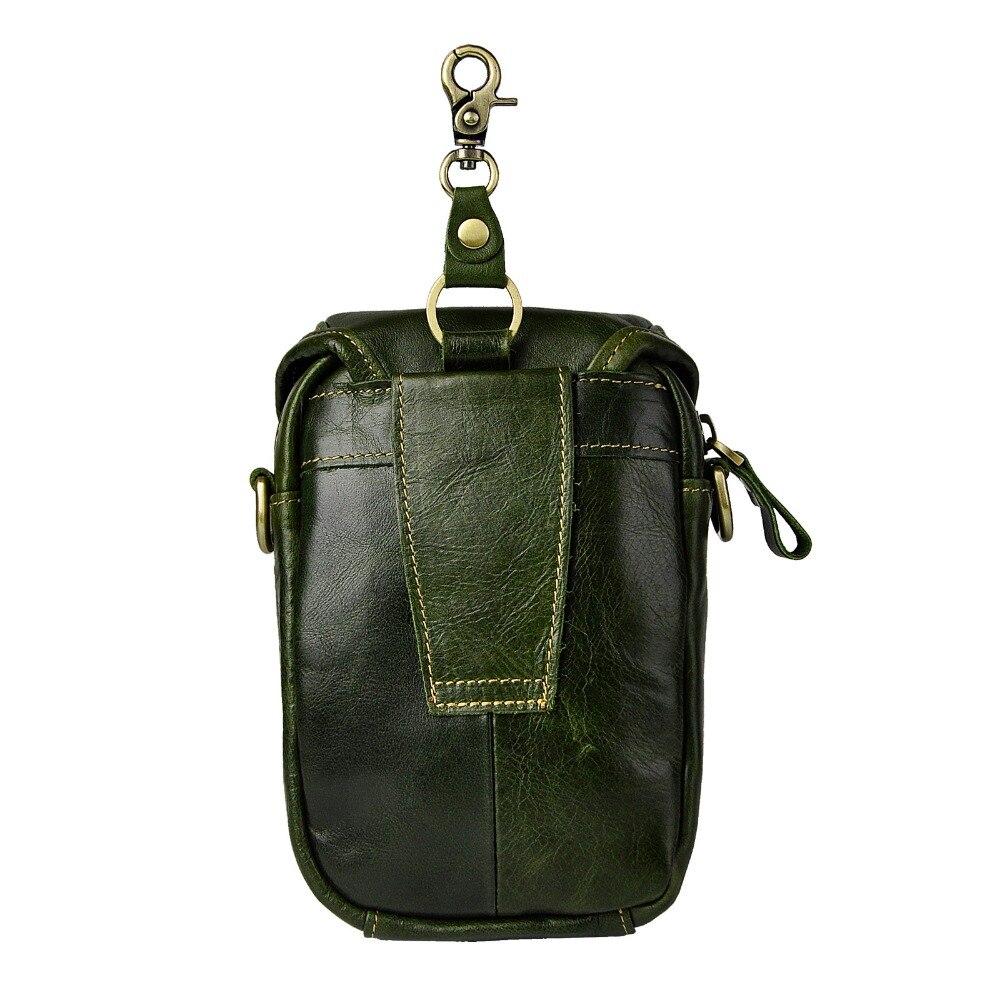 Mode äkta läder multifunktion sommar påse krok midja pack - Bälten väskor - Foto 3