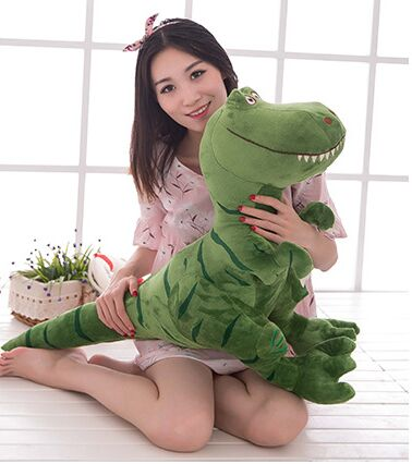 big plush Tyrannosaurus rex toy green dinosaurs doll birthday gift about 80x60cm лего кубики lego 75918 tyrannosaurus rex