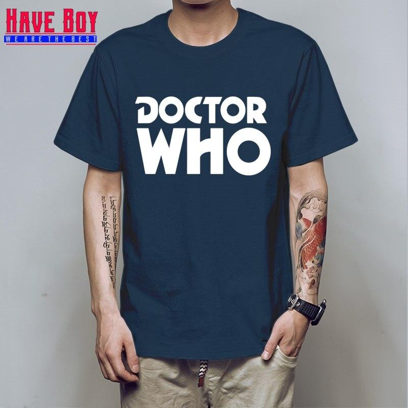 HAVE BOY doctor who DW Printed Mens Men T Shirt Tshirt Fashion New Short Sleeve O Neck Cotton T-shirt Tee Camisetas HB181