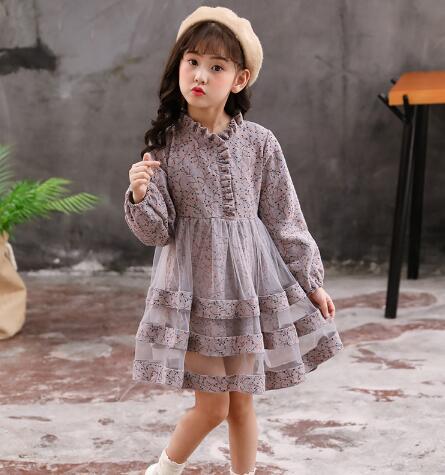 Girls dresses 2019 autumn kids girls long sleeve princess dress for birthday party wear children clothing winter teenager dress 6
