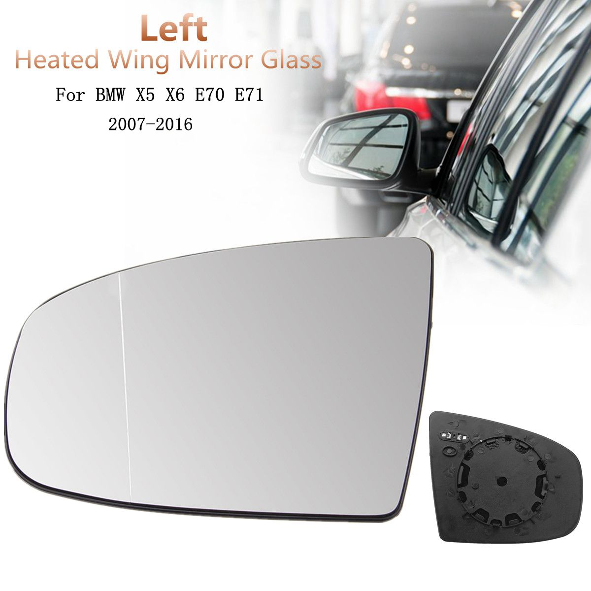 X6 Passenger Side Dim Fi Full Adhesive For Bmw X5 Mirror Glass Replacement