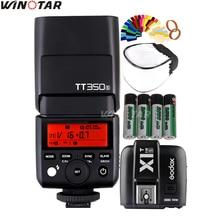 Godox Мини Speedlite tt350s Камера flash TTL HSS + x1t-s триггера + 2×2500 мАч Батарея для Sony a77ii a7rii A7R A7000 A6500 a6300