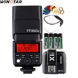 Godox Mini Speedlite TT350S Camera Flash TTL HSS + X1T-S Trigger + 2x 2500mAh Battery for Sony A77II A7RII A7R A7000 A6500 A6300