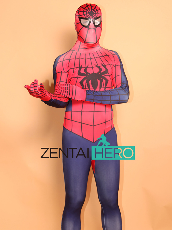 Free Shipping DHL Adult Printing Full Body Lycra Spandex Spiderman Costume Cool Superhero Costume For 2017 Halloween Events