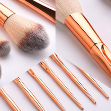 8Pcs/Set Metal Makeup Brushes Kit Face Foundation Eyeshadow Blush Tools JIU55