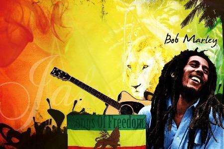 ᐃDIY marco Bob Marley Superstar Música arte carteles y Impresión
