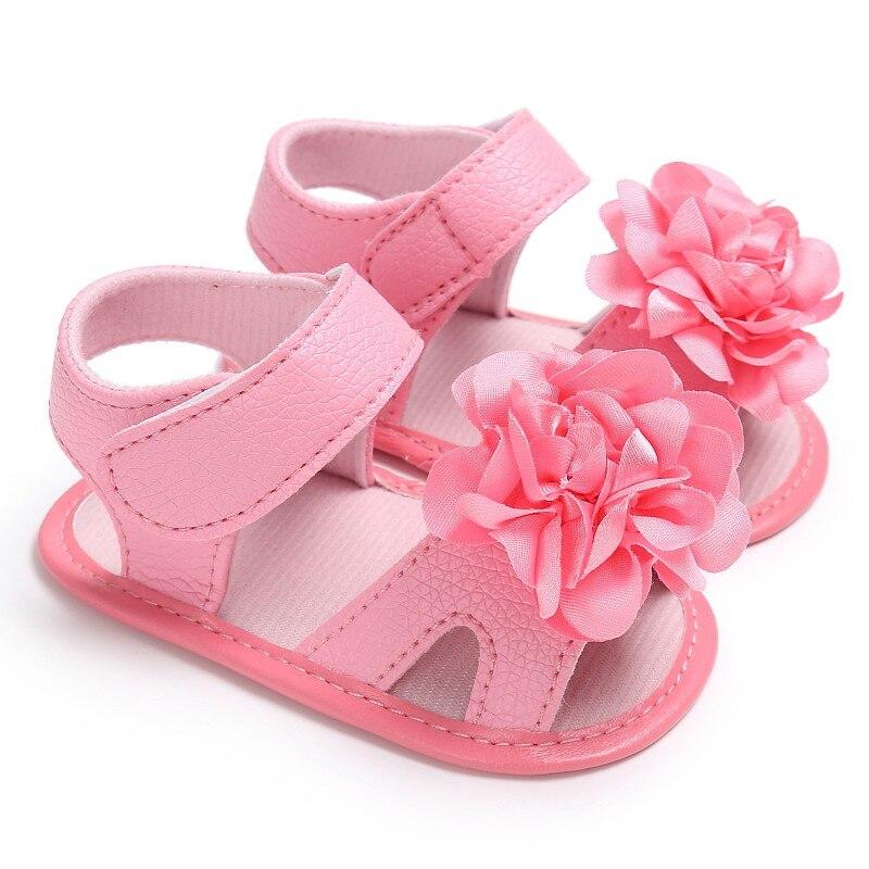2017 Girls Flowers Baby Anti-skid Summer Shoes Anti-slip Flip Flop Newborn Prewalker 0-18M