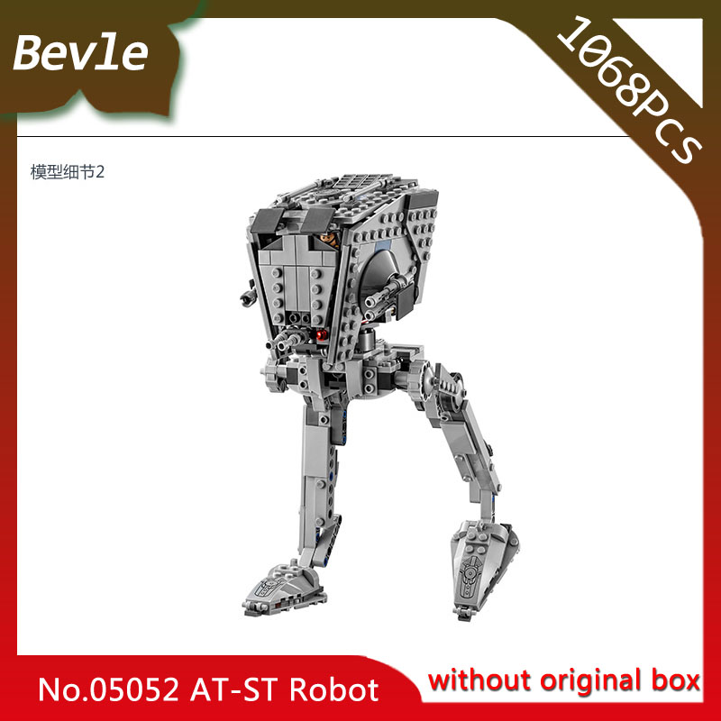 цены на Bevle Store Lepin 05052 1068pcs Star Wars Series AT-ST robot Model Building set Blocks Bricks 10174 children Gift toys