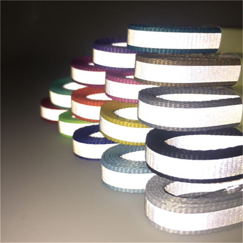 1 Pair High Quality Flat Reflective Runner Shoe Laces Unisex Sport Basketball Luminous Glowing Shoelaces Free Shipping