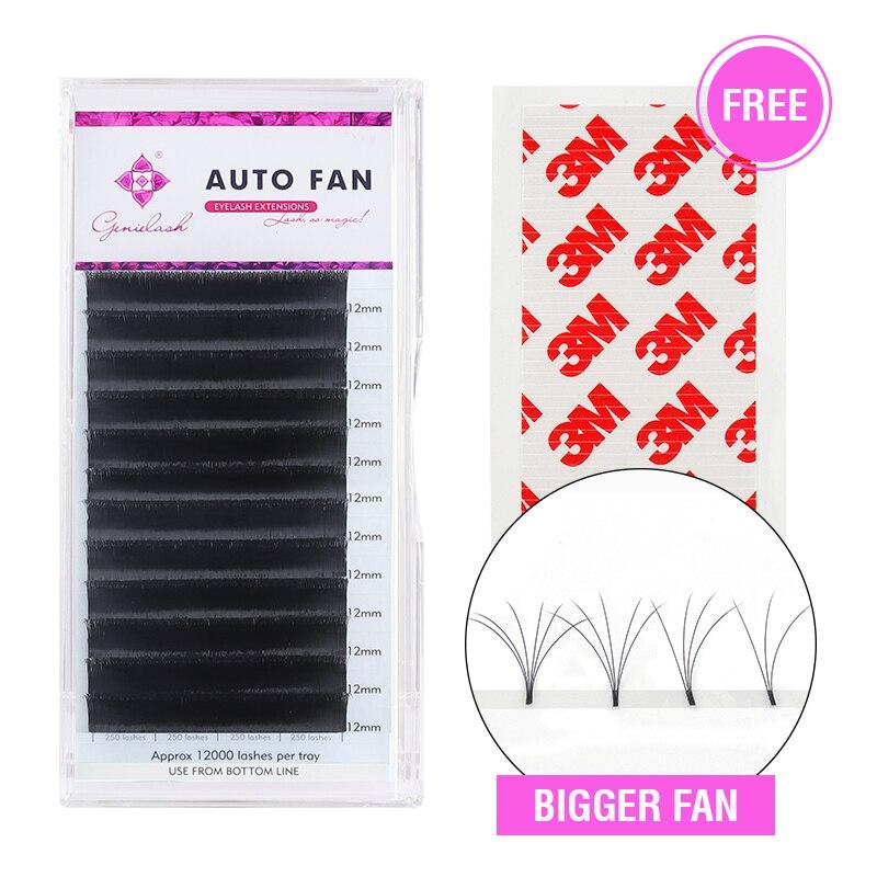 Genielash 1sec Auto ventilateur cils volume rapide extensions de cils vison cils Auto fanning cils rapide floraison extensions de cils