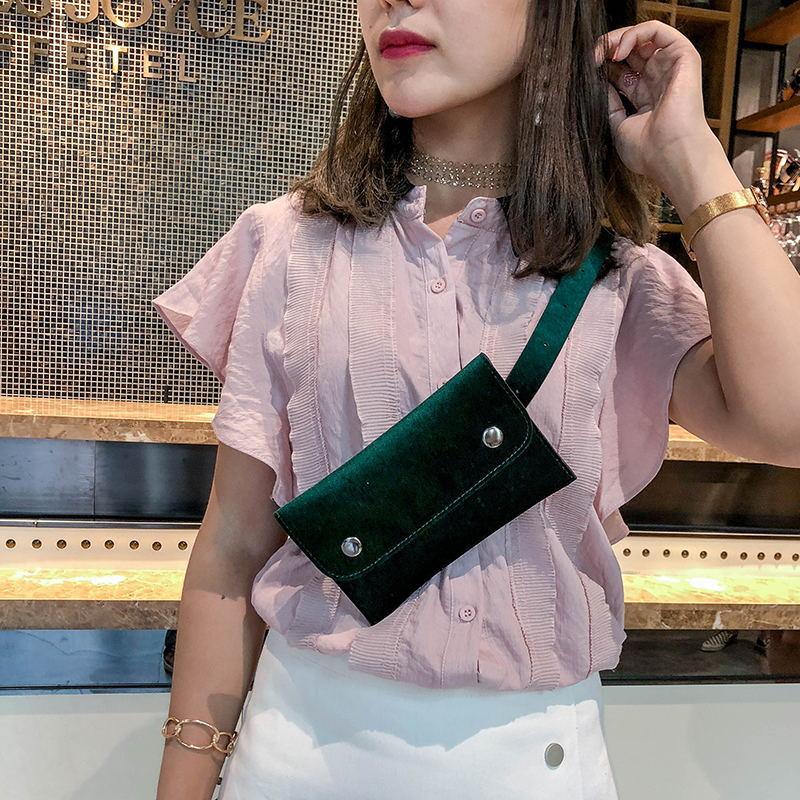 2018 Mode Frauen Brust Tasche Luxus Handtaschen Mädchen Taille Fanny Pack Designer Pu Leder Crossbody Messenger Schulter Gürtel Taschen