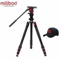 Miliboo MUFA легкий штатив с 50 мм небольшой жидкой головкой алюминиевый Портативный штатив для камеры Центральная осевая инверсия макросъёмка