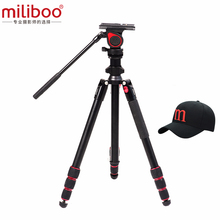miliboo MUFA lightweight Tripod with 50mm Small Fluid Head Aluminum Portable Camera Stand Central Axial Inversion