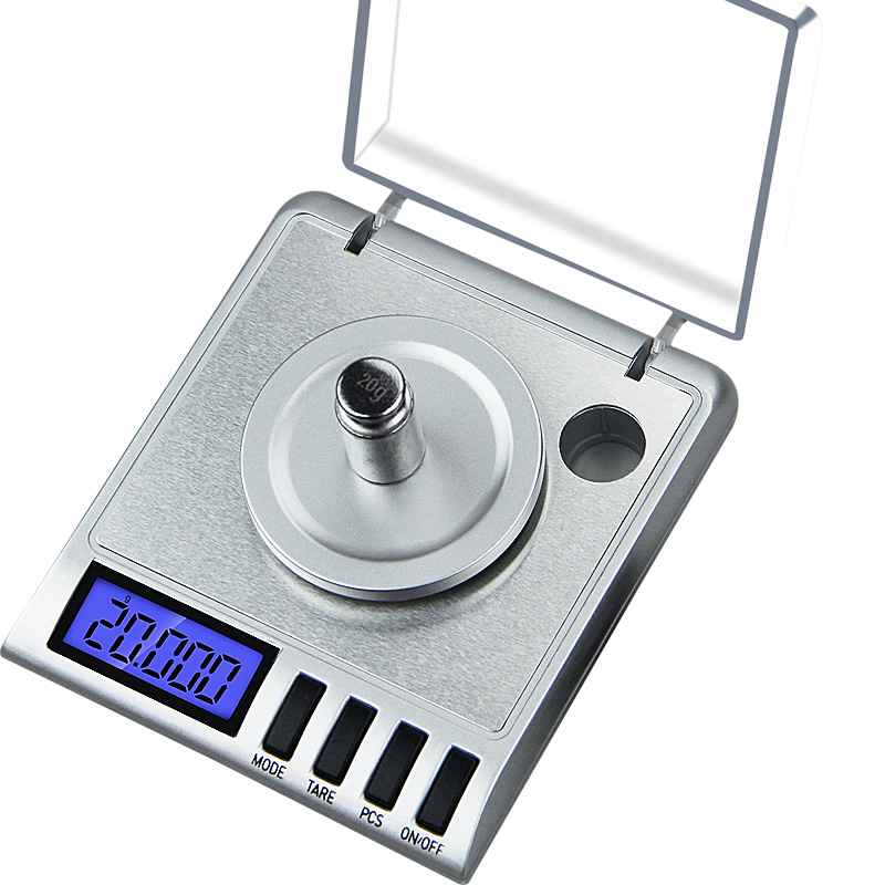 0.001g Precision Portable Electronic Jewelry Scales 50g/0.001 Diamond Gold Germ Medicinal Pocket Digital Scale Weighing Balance newacalox 50g 0 001g portable mini jewelry scales lab weight high precision scale medicinal use lcd digital electronic balance