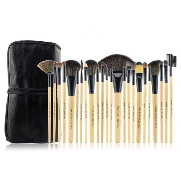 Make up for you 24 pcs Makeup Brushes tools set Make-up Toiletry Kit Wool Brand hand to MakeUp Brush Set Case