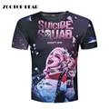 Harley Quinn Joker T-shirts 3d Men T shirts Suicide Squade Funny Summer Movie Cool T shirt Skateboard Camisetas 2017 ZOOTOP BEAR