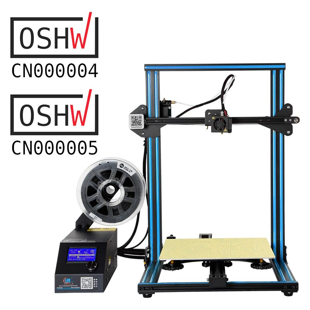 Le Filament d'imprimante de CR-10S de cadre en métal de l'imprimante 3D de Creality de grandes ventes détectent la mise hors tension d'impression de cv facultative avec la double tige de Z