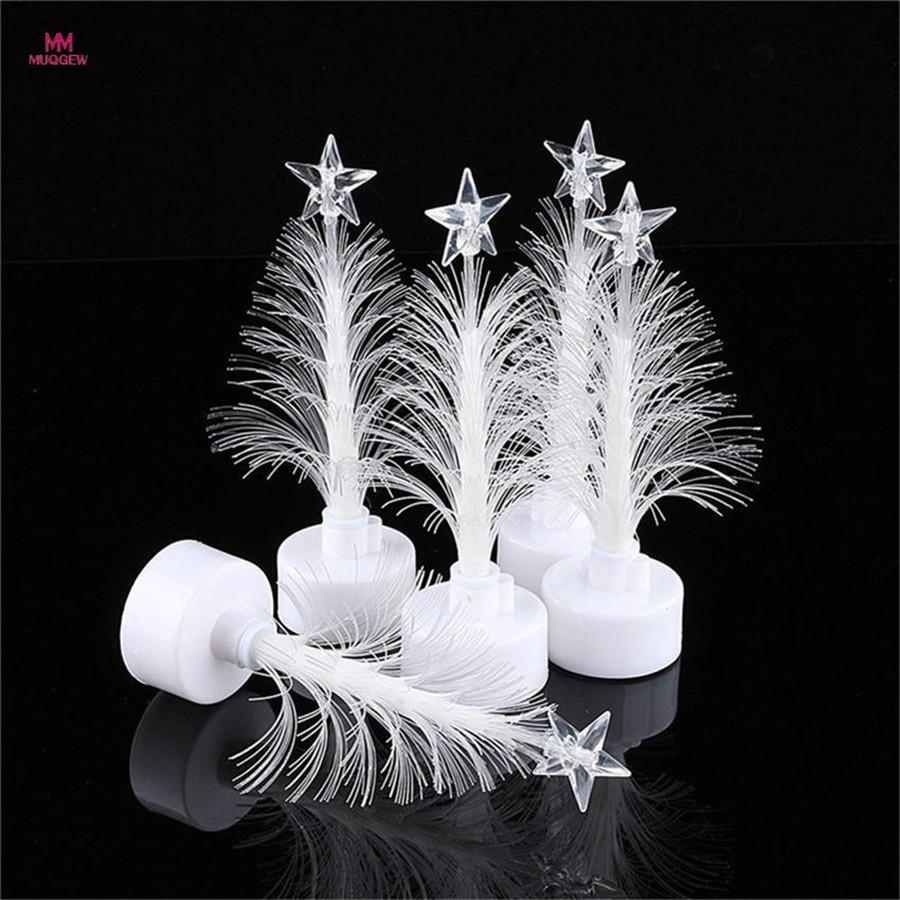 ISHOWTIEND 1PC 12cm *7cm Merry LED Color Changing Mini Christmas Xmas Tree Home Table Party Decor Charm LED Christmas Tree Light