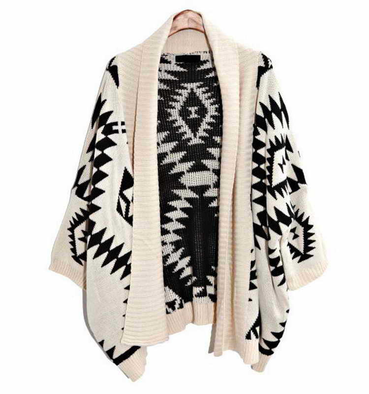 2014 Autumn Winter women asymmetrical sweater wool knitted ladies ...