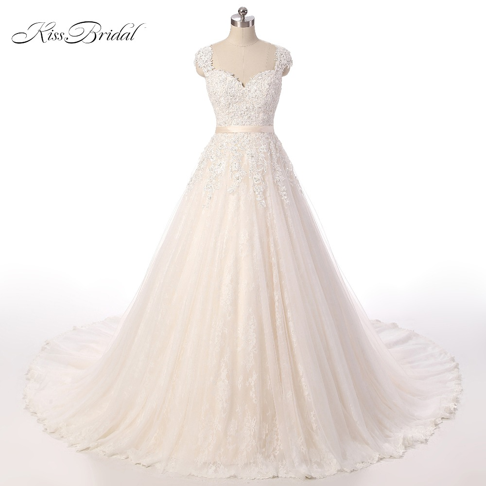 Modest Belt Backless Gelinlik Lace Tulle Wedding Dresses 2018 robe de mariage Scoop vestidos de noiva Bridal Gowns