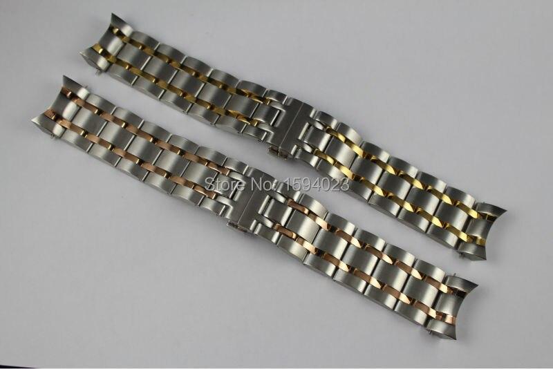 24 мм T035614A T035627 новые детали для часов мужской браслет из нержавеющей стали с золотым покрытием ремешок с покрытием из розового золота ремешо