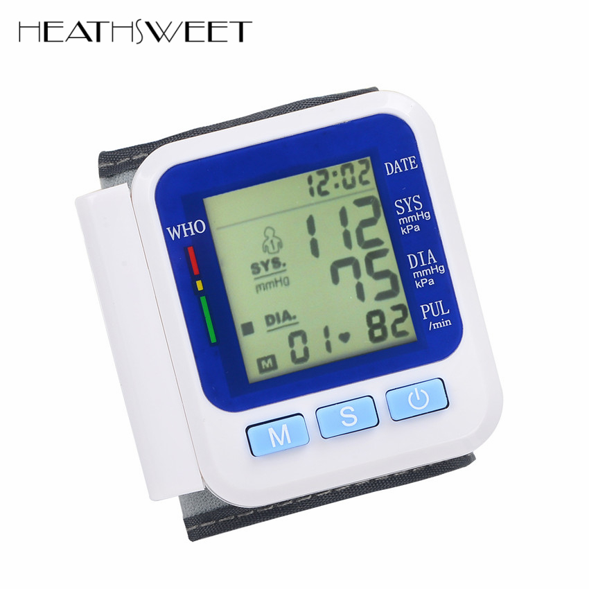 Healthsweet Health Care Germany Chip Automatic Wrist Digital Blood Pressure Monitor Tonometer Meter for Measuring And Pulse Rate health care automatic wrist digital blood pressure monitor tonometer meter for measuring and pulse rate black