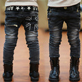 Kids Jeans Spring and Autumn 2017 New Boy Casual Slim Black Jeans Boys Trousers leisure