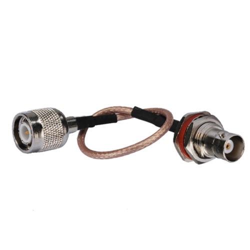 4 PCS 6 inch TNC Plug male to BNC Jack Female Bulkhead O ring ...