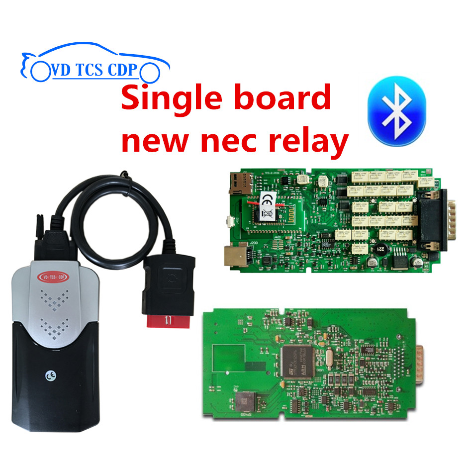 100% New ne-c relay Single one board VD TCS cdp pro plus with 2015.3 R3 keygen software original pcb quality a single one green board vd tcs cdp with bluetooth 2014 r2 2015 r3 optional software plastic suitcase for cars trucks