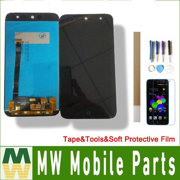 1 teil/los 5,0 zoll Für ZTE Klinge A1 C880U C880 C880d c880s Touch Screen LCD Display digitizer Schwarz Farbe mit werkzeuge + band