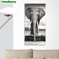 Home Beauty 40 80 Diy Oil Picture By Numbers Modular Painting Calligraphy For Living Room Elephant