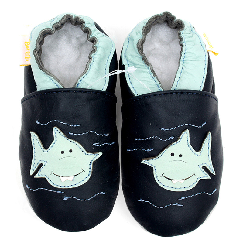 Leather Baby Shoes Moccasins Boy First Walkers Newborn Baby Shoes Dark Blue Boy Slipper Infant Shoe Boy Toddler Kids Shoes Girl
