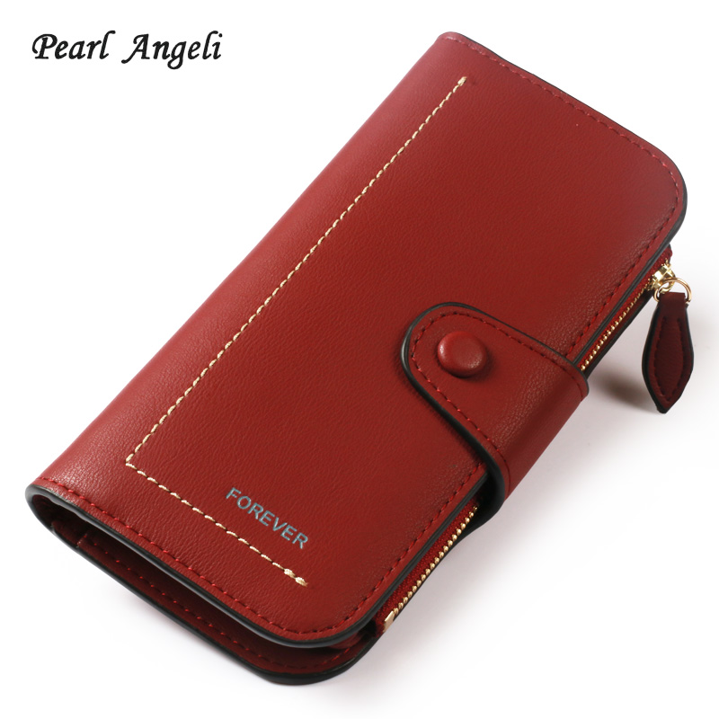 2018New Wallet Brand Coin Purse PU Leather Women Wallet Purse Wallet Female Card Holder Long Lady Clutch purse Carteira Feminina new fashion leather wallet korean bow solid women wallet hash 3 fold long women purse carteira feminina cion pocket card holder