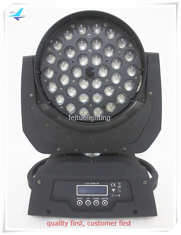 Best Sell Professional 36x10w LED Moving Head Zoom Wash Circle RGBW 4in1 Stage Light DMX LED Zoom Lighting for Disco Wedding DJ