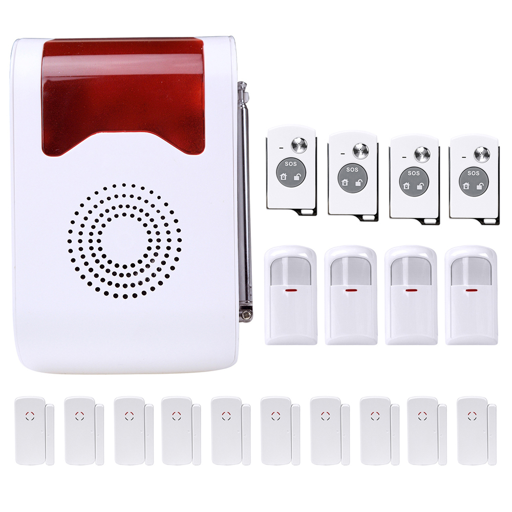 433Mhz Remote Control Wireless Anti-theft House Alarm system Loudly Voice Home Security Alarm System