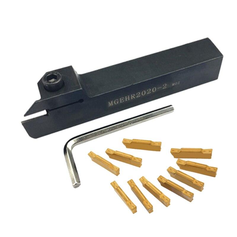 MGEHR2020 1.5mm 2mm 2.5mm 3mm 4mm with 10pcs MGMN150 MGMN200 MGMN300 MGMN400 External Grooving CNC Lathe Turning Tool Set